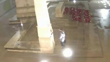 Disrespect: Moment man urinates on cenotaph