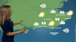 Friday's weather for the east with Philippa