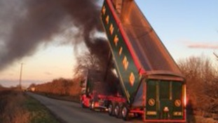 The lorry fire