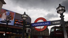 The incident took place inside Piccadilly Circus station.