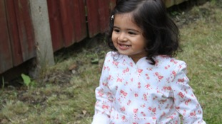 Tiya Chauhan died after choking on a piece of jelly.