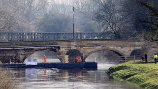 Whole again: Tadcaster rejoined by temporary footbridge