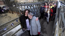 Tadcaster reunited after historic bridge collapsed in floods