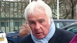 Bobby Gould arriving at Coventry Cathedral.