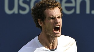 Andy Murray celebrates in the semi finals