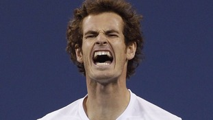 Andy Murray after losing a point in the final