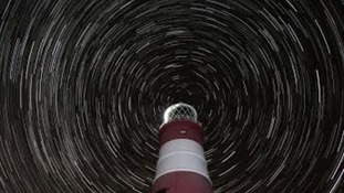 Star trails at Orford Ness