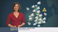 Cold with rain, sleet and snow in places