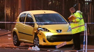 Police have spoken to the driver of the yellow Peugeot