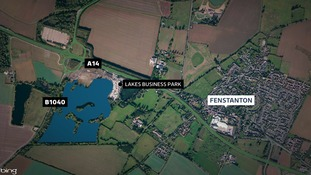 The lorry was stopped at the Lakes Business Park.