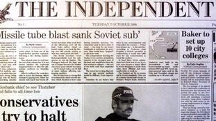 Ten front pages from the Independent over the last 30 years
