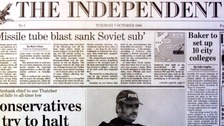 Ten Independent front pages from over the last 30 years