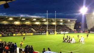 Newcastle Falcons game at Kingston Park