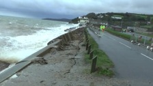 Devon A379 closed as sea wall collapses at Torcross