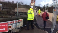 A new footbridge also opened at Elland last month