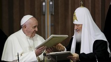 Pope and Russian Patriarch meet for first time since 1,000 year rift