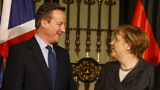 Germany's Merkel backs Cameron's EU reforms