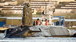 """Ash Carter said the nuclear-armed submarines are an """"important part of the deterrent structure of Nato""""."""