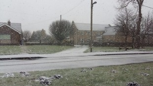 Snow in Iveston, County Durham