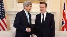 US secretary of state John Kerry with David Cameron.