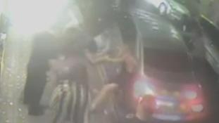 Shocking CCTV shows friends mowed down outside nightclub