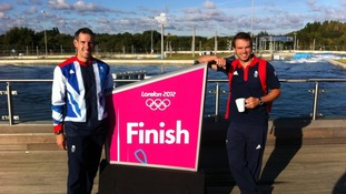 Etienne Stott (left) and Tim Baillie won gold in the men's canoe slalom.