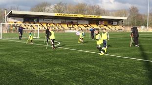 Annan Athletic amputee training