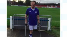 Brian brings amputee football to Annan Athletic