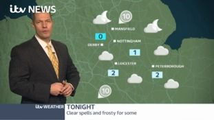 Most places will be dry with overnight frost later