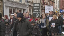 Hundreds march against Whitby school closure