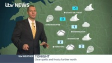 Clear spells and frosty further north