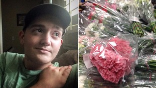 Teenager gives every girl in his school a flower for Valentine's Day