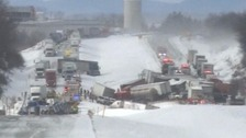 Fatal 50 car pile-up shuts down US highway