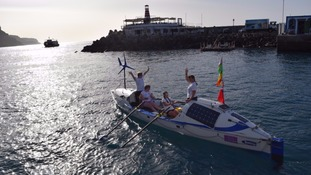 British rowers rescued after 16 hours stranded in Atlantic ocean