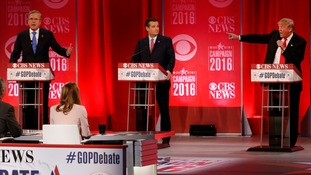 Republican presidential candidates trade blows in fiery debate