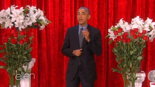 President Obama and First Lady share Valentine's messages on Ellen Show