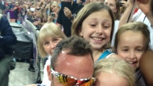 Pollyanna Hope with Oscar Pistorius.