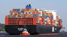 UPDATE: Huge container ship 'freed' after running aground