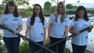 Jane McIntosh (far left) from Worcestershire and Gemma Chalk (centre right) from Staffordshire were part of the crew.