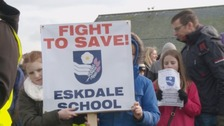 Hundreds march against closure of Eskdale school in Whitby