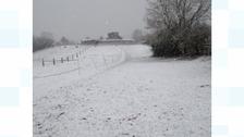 Snow flurry in Nottingham