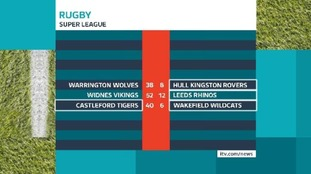 Today's Super League results