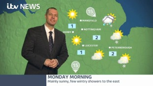 Mainly sunny, few wintry showers