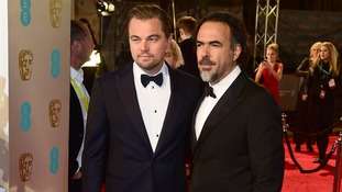 Inarritu with the Revenant star Leonardi Di Caprio