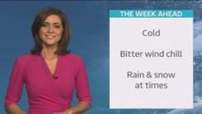 Weather: Cold and wintry end to the weekend