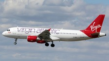 A Virgin Atlantic flight had to return to Heathrow after a laser was shone into the cockpit