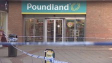 The Poundland store in which Justin Skrebowski was stabbed to death