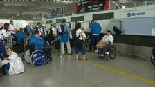 Czech out: Athletes prepare to head for home
