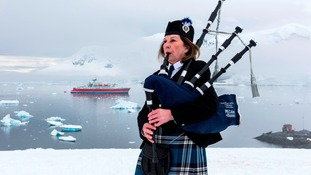 Piper breaks the ice with special Antarctic gig