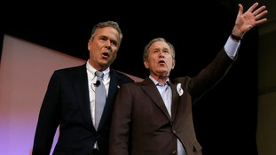 Former President George W Bush joins brother Jeb's presidential campaign